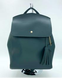 Молодежный сумка-рюкзак Сердце зеленого цвета