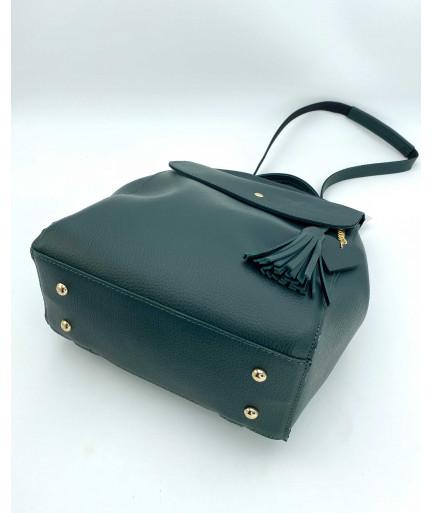 Женский рюкзак оптом «Сердце» зеленый