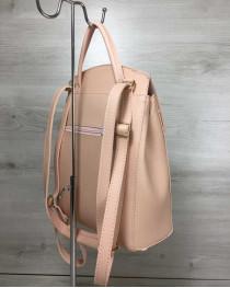 Молодежный сумка-рюкзак Сердце пудрового цвета