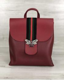 Сумка рюкзак женский Барб красный