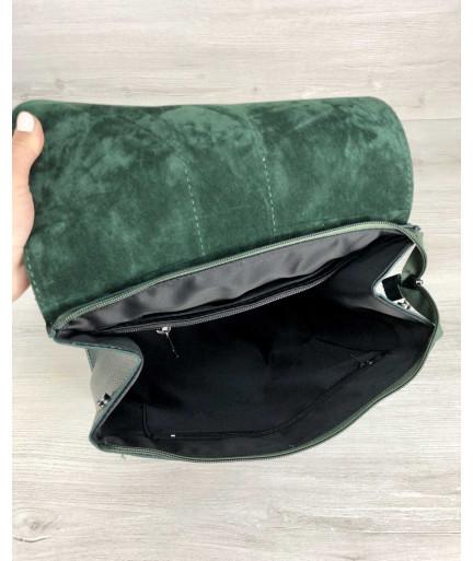 Сумка рюкзак женский «Барб» зеленого цвета
