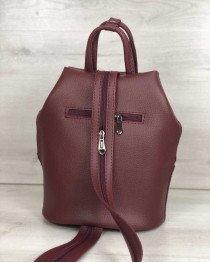 Женская сумка рюкзак «Габи» бордового цвета