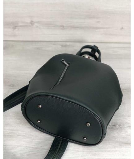 Женская сумка рюкзак «Габи» зеленый