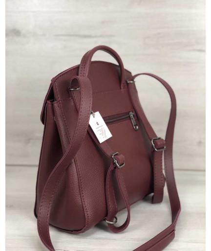 Молодежный сумка-рюкзак Дэнис бордового цвета