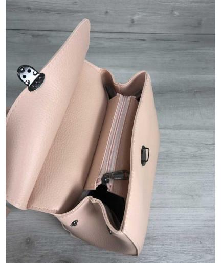 Рюкзак женский  «Дэнис»  пудрового цвета