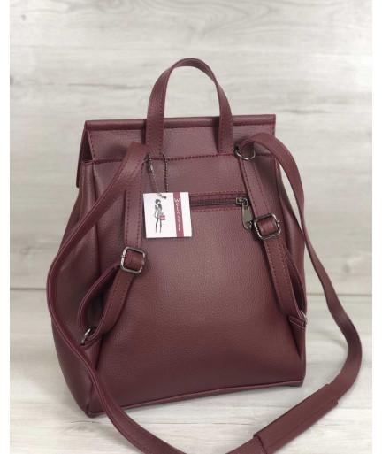 Рюкзак «Фаби» женский бордовый