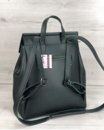 Молодежный сумка-рюкзак Фаби зеленого цвета