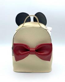 Сумка - рюкзак Микки бежевого цвета