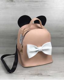 Сумка - рюкзак Микки пудрового цвета