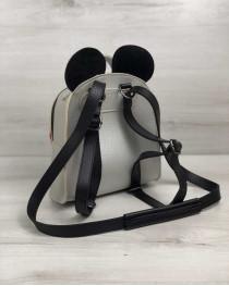 Сумка - рюкзак Микки серебряного цвета