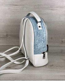 Рюкзак женский «Рина» белый с голубым