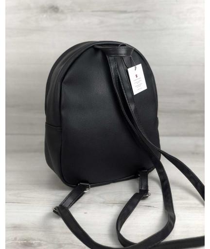 Стильный молодежный рюкзак Мэри черный блеск
