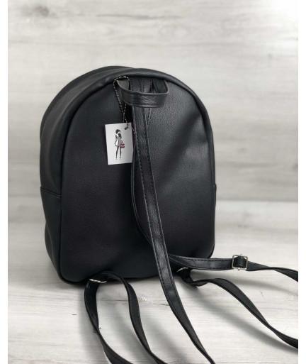 Стильный молодежный рюкзак Мэри серый блеск