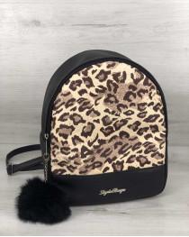 Рюкзак «Мэри» черный (леопард)