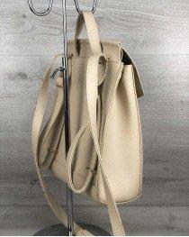 Рюкзак с косичкой бежевый