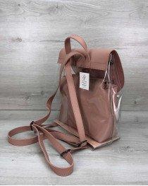 Рюкзак силиконовый с косметичкой пудра