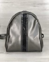 Стильный молодежный рюкзак Юна серебряного цвета