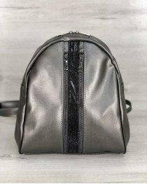 Рюкзак «Юна» серый (серебро)