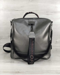 Молодежный  сумка-рюкзак Angelo металлик