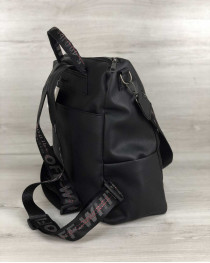 Стильный сумка-рюкзак Taus черного цвета