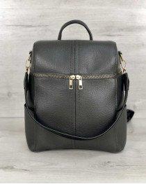 Женский сумка рюкзак «Фроги» серый