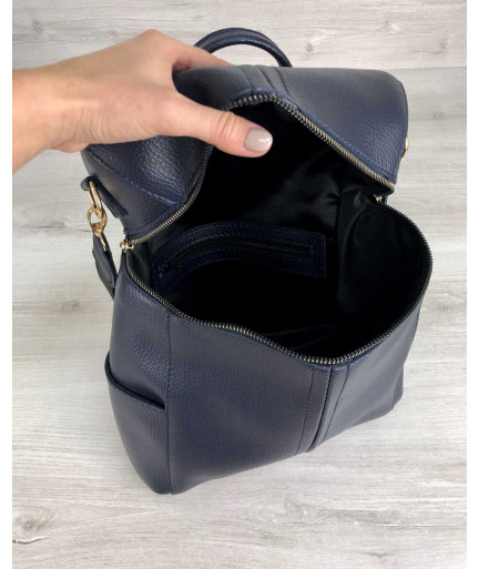 Молодежный сумка-рюкзак Фроги синего цвета