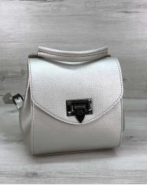 Сумка рюкзак «Chris» серебро