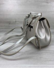 Сумка рюкзак женский «Chris» серебро