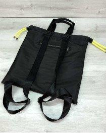 Рюкзак сумка женский «Berry» черный с неоновым желтым