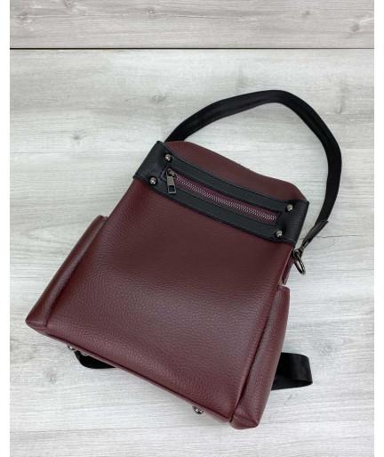 Сумка рюкзак «Dacio» темно бордовый