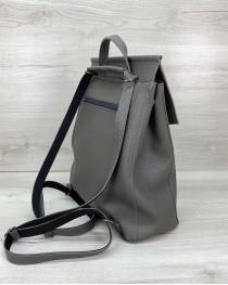 Сумка рюкзак «Марио» серый