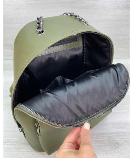 Рюкзак женский «Андрес» оливковый