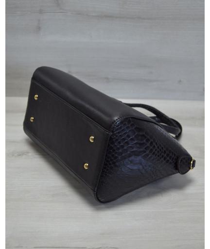 Молодежная женская сумка Живанши черная кобра