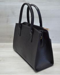 Молодежная женская сумка Кисточка черная рептилия