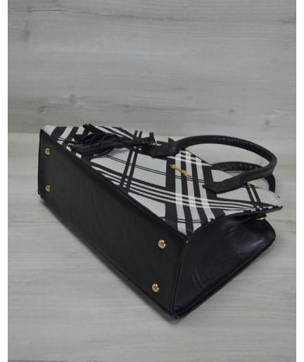 Молодежная женская сумка Кисточка барбери черная