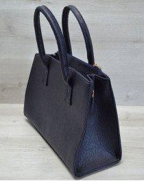Молодежная женская сумка Кисточка синяя рептилия