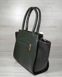 Молодежная сумка « Ремень» зеленого цвета