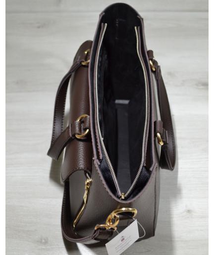 Сумка-клатч коричневого цвета