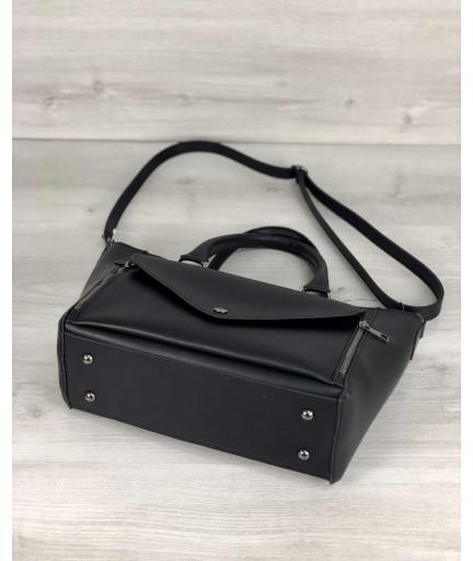 Стильная молодежная сумка Сагари черного цвета
