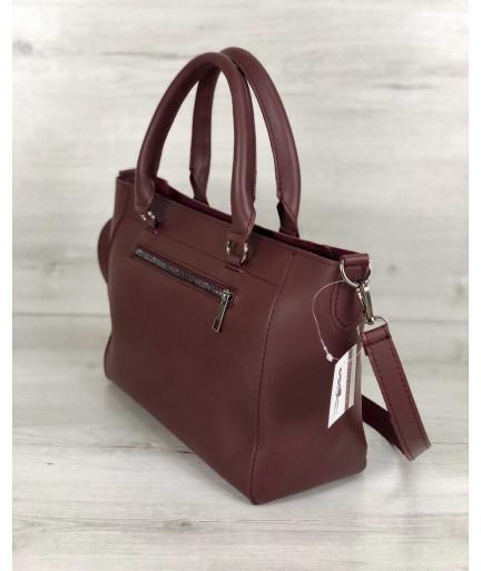 Стильная молодежная сумка Сагари бордового цвета