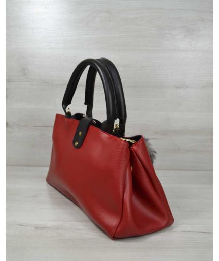 Молодежная сумка «Альба» красная с черным