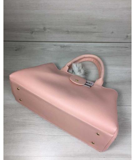 Молодежная сумка Альба пудрового цвета