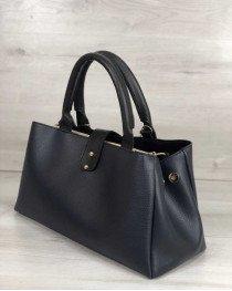 Молодежная сумка Альба синего с черным цвета