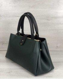 Молодежная сумка Альба зеленого с черным цвета