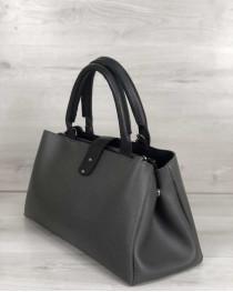 Молодежная сумка Альба серого с черным цвета