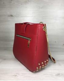 Молодежная женская сумка Ева красного цвета