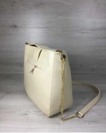 Молодежная женская сумка Ева бежевого цвета