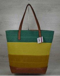 Летняя женская сумка Резинка комбинированная рыжая