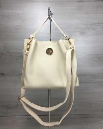 Женская сумка Одри бежевого цвета