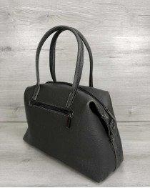 Женская сумка Ирен серая (никель)